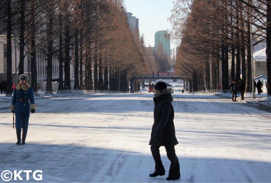 Winter Day in Pyongyang, North Korea