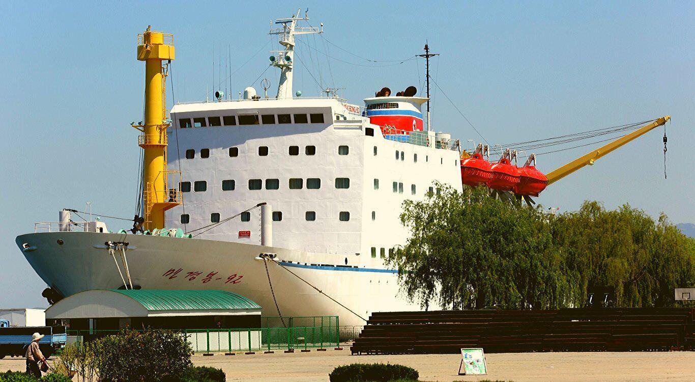 Wonsan port in May, North Korea