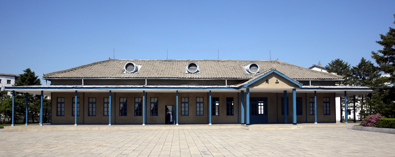 Main square of the Wonsan Train Station Revolutionary Site in North Korea, DPRK. Picture taken by KTG Tours
