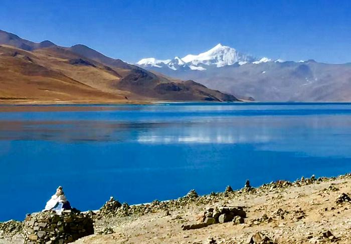 Yamdrok-tso lake in Tibet, China