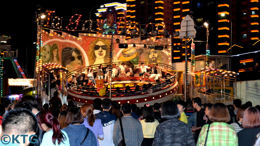 Evening funfair in Yanji, Yanbian, Jilin Province (China)