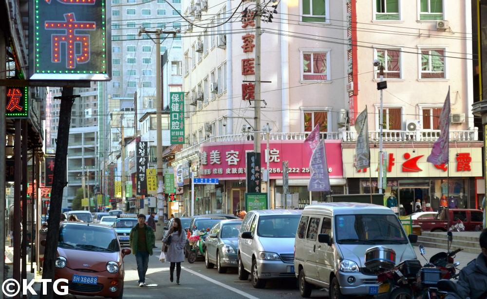 Downtown Yanji City in Yanbian, China, near North Korea and Russia
