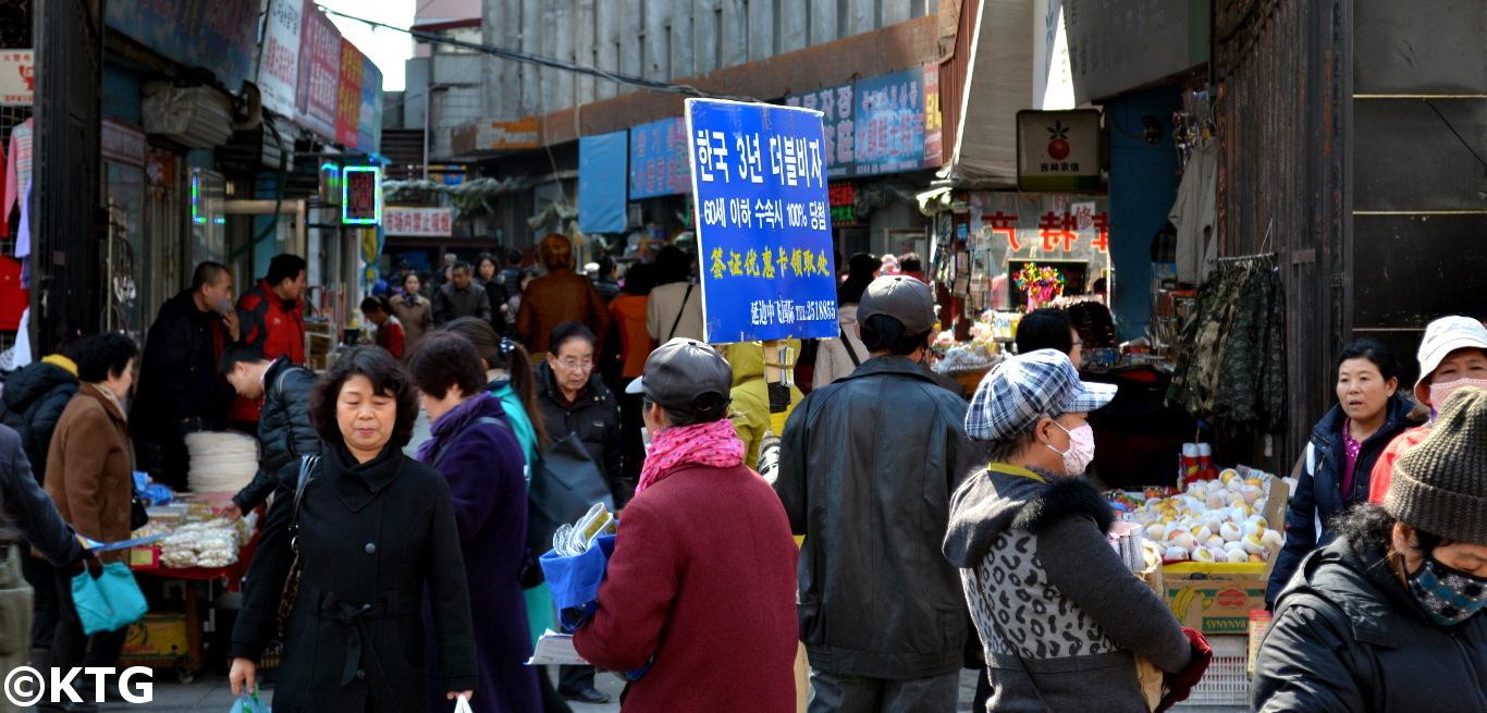 Antiguo mercado Oeste en Yanji, Región Autónoma de Corea Yanbian, provincia de Jilin, China