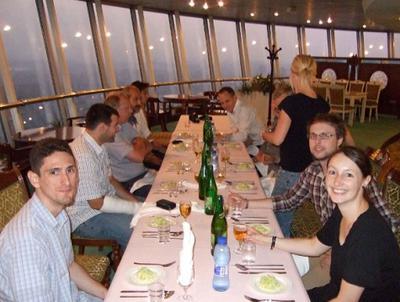 Dinner at Yanggakdo Hotel revolving restaurant