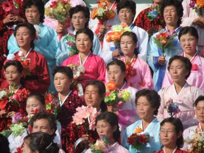 North Korean ladies singing a song