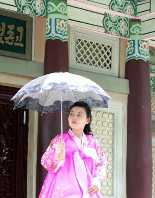 Korean lady in Mount Myohyang