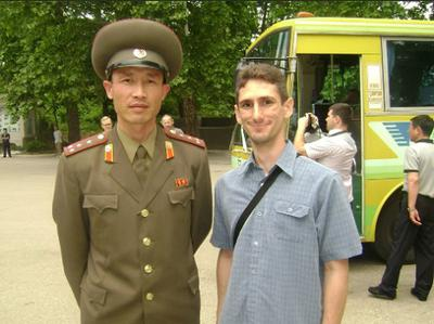 With a soldier (who was also our Local Guide) at the DMZ