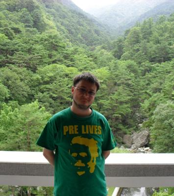 Myself at Myohyangsan (Mt. Myohyang)
