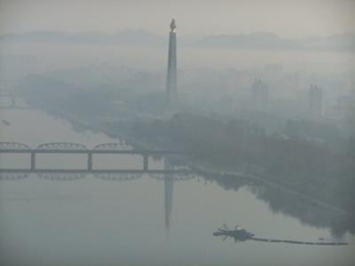 View from the hotel: Juche tower