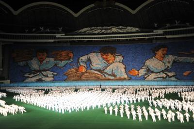 Imagen de los Mass Games en Corea del Norte